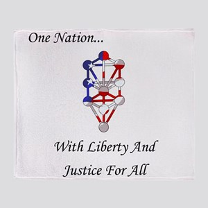 One Nation Kabbalah Throw Blanket