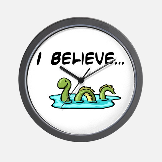 I Believe in the Loch Ness Mo Wall Clock