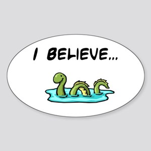 I Believe in the Loch Ness Mo Oval Sticker