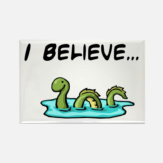 I Believe in the Loch Ness Mo Rectangle Magnet