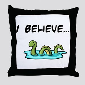 I Believe in the Loch Ness Mo Throw Pillow