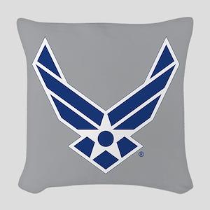 Air Force Symbol Woven Throw Pillow