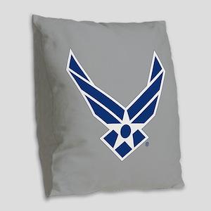 Air Force Symbol Burlap Throw Pillow