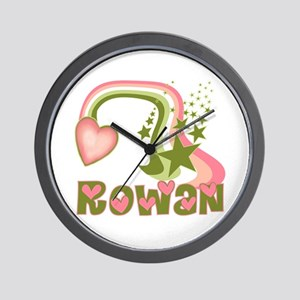 Rainbows & Stars Rowan Personalized Wall Clock