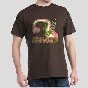 Rainbows & Stars Rowan Personalized Dark T-Shirt