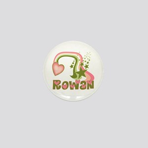 Rainbows & Stars Rowan Personalized Mini Button