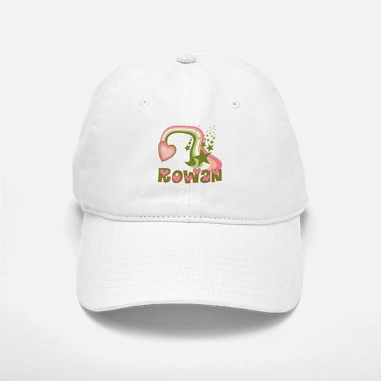 Rainbows & Stars Rowan Personalized Baseball Baseball Cap
