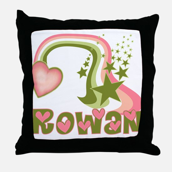 Rainbows & Stars Rowan Personalized Throw Pillow