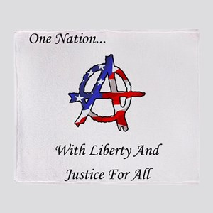 One Nation Anarchy Throw Blanket
