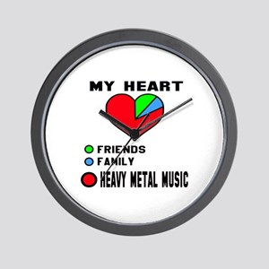 My Heart Friends, Family, Heavy Metal M Wall Clock