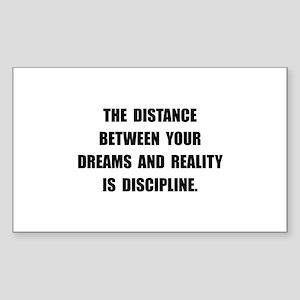 Discipline Quote Sticker