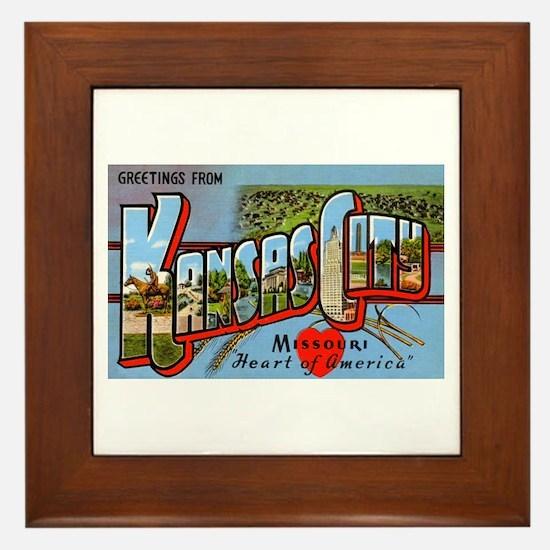 Kansas City Missouri Greetings Framed Tile