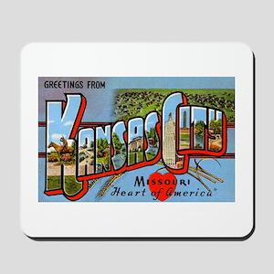Kansas City Missouri Greetings Mousepad