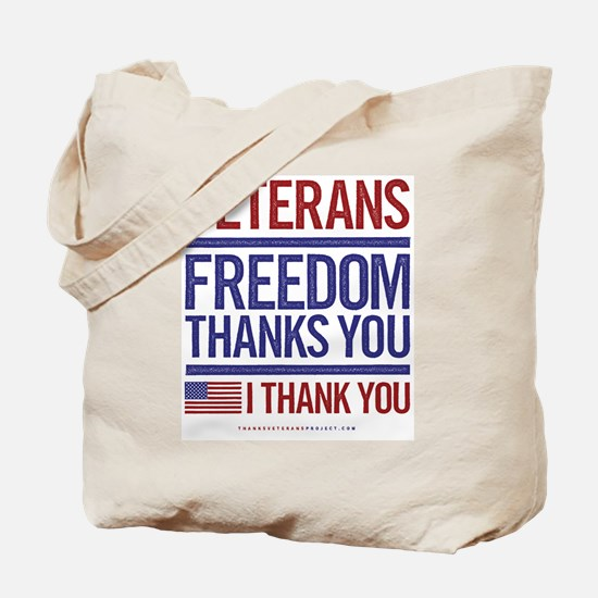 Cute Thank you veterans Tote Bag