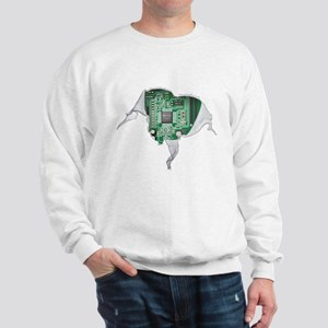 Motherboard Heart Sweatshirt