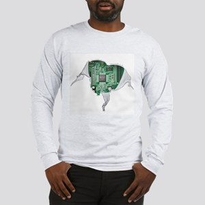 Motherboard Heart Long Sleeve T-Shirt