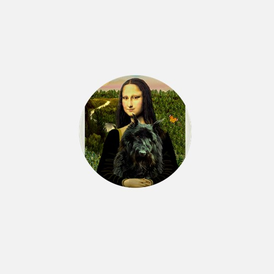 Mona Lisa & Her Bouvier Mini Button