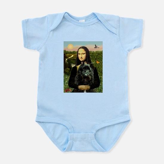 Mona Lisa & Her Bouvier Infant Bodysuit