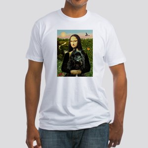 Mona Lisa & Her Bouvier Fitted T-Shirt
