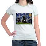 Starry Night Bouvier Jr. Ringer T-Shirt