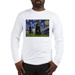 Starry Night Bouvier Long Sleeve T-Shirt