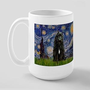 Starry Night Bouvier Large Mug
