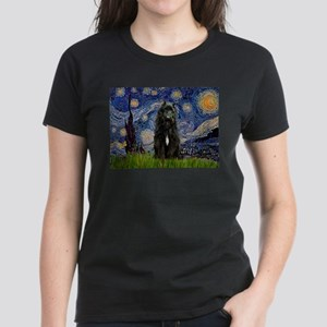 Starry Night Bouvier Women's Dark T-Shirt