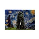 Starry Night Bouvier Rectangle Magnet