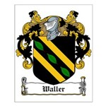 Waller Family Crest Small Poster