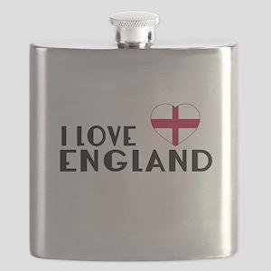 I Love England Flask