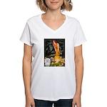 Midsummer's Eve Coton Women's V-Neck T-Shirt