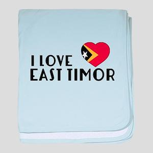 I Love East Timor baby blanket