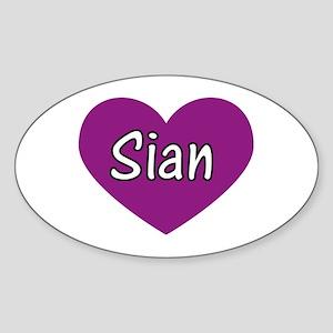 Sian Oval Sticker