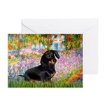 Garden / Dachshund Greeting Cards (Pk of 10)