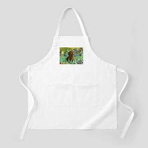 Irises & Dachshund Apron