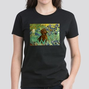 Irises & Dachshund Women's Dark T-Shirt