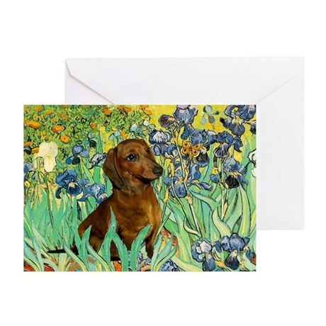 Irises & Dachshund Greeting Cards (Pk of 20)