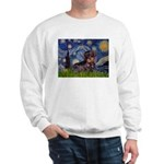 Starry Night Dachshund (Wire) Sweatshirt