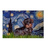 Starry Night Dachshund (Wire) Postcards (Package o