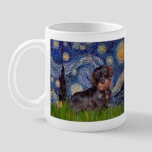 Starry Night Dachshund (Wire) Mug