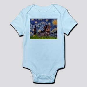 Starry Night Dachshund (Wire) Infant Bodysuit