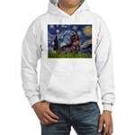 Starry Night Dachshund (Wire) Hooded Sweatshirt
