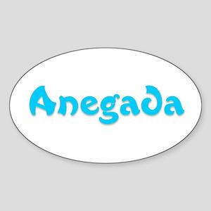 Anegada Oval Sticker