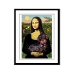 Mona / Dachshund (wire) Framed Panel Print