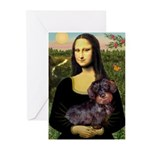 Mona / Dachshund (wire) Greeting Cards (Pk of 20)
