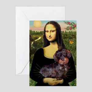 Mona / Dachshund (wire) Greeting Card