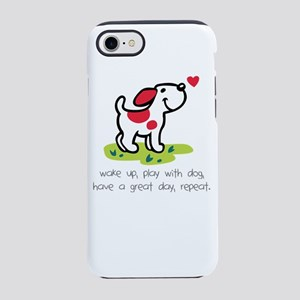 wake up, play with dog, have iPhone 8/7 Tough Case