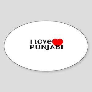 I Love Punjabi Sticker (Oval)