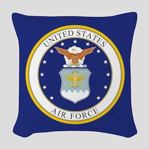 USAF Emblem Woven Throw Pillow