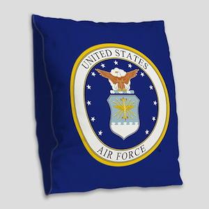 USAF Emblem Burlap Throw Pillow